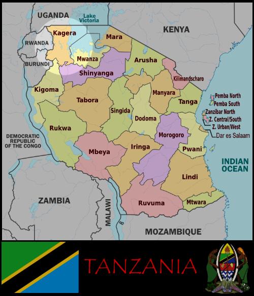 Kagera, Tanzania map