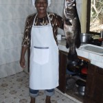 mary of kiroyera tours with local fish!